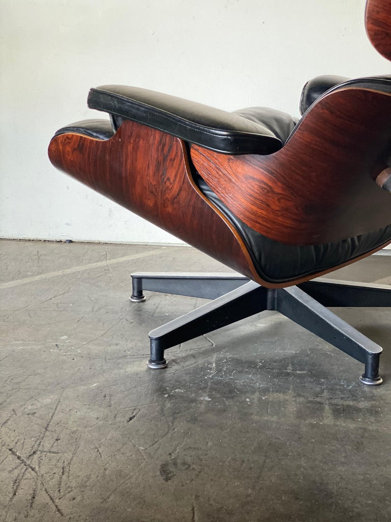 Gorgeous 1960s Herman Miller Eames Lounge Chair and Ottoman 2
