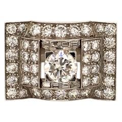 Gorgeous 1970s Diamond Ring in Platinum