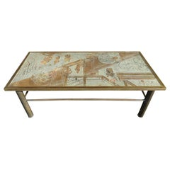 Gorgeous 1970s Philip and Kelvin LaVerne Chan Coffee Table Mid-Century Modern