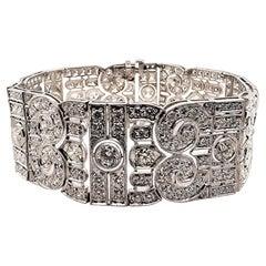 Gorgeous 21.37 Carat Platinum All Diamond Bracelet