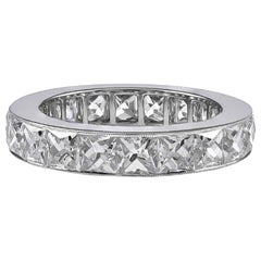 Gorgeous 5.05 Carat Platinum All Diamonds Eternity Band Ring