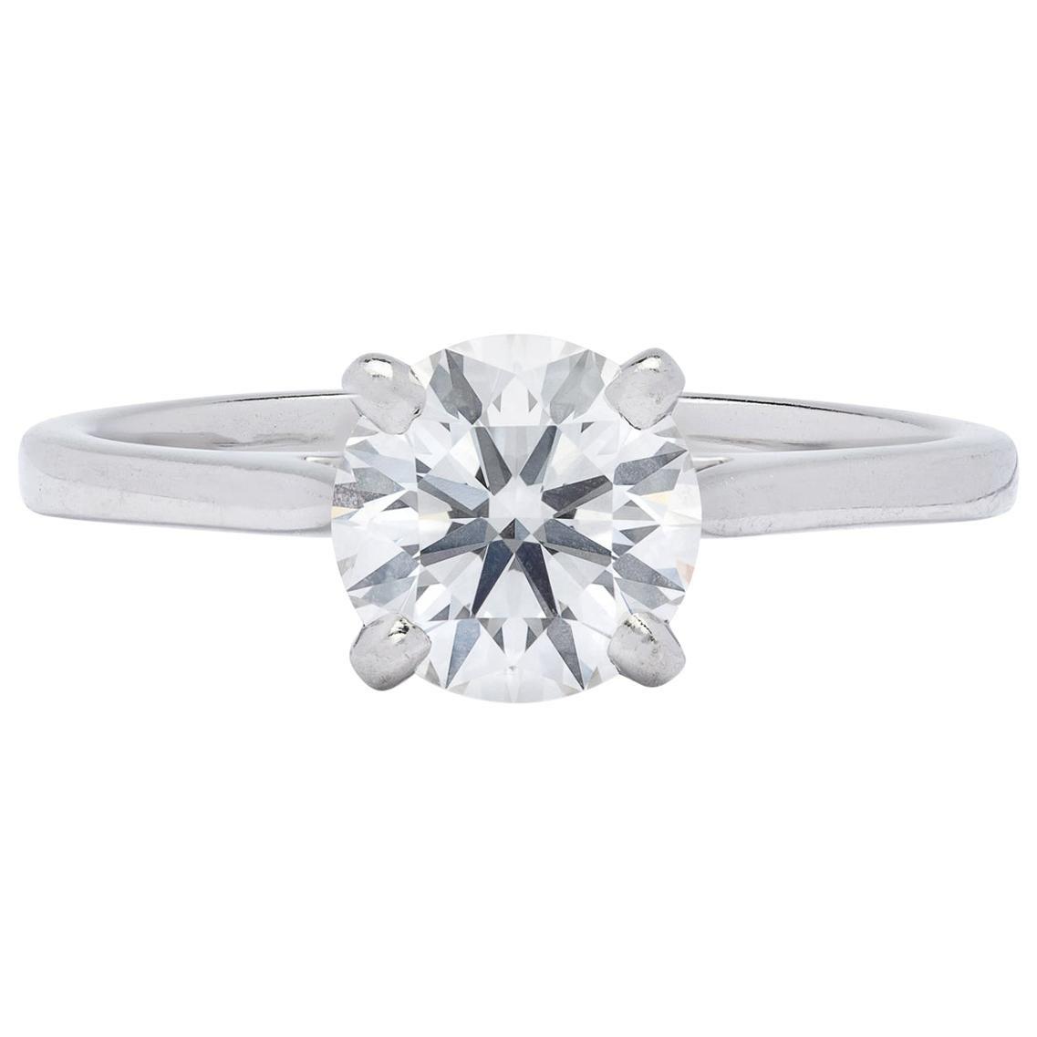 Gorgeous .86 Carat GIA F/VVS1 Diamond Ring