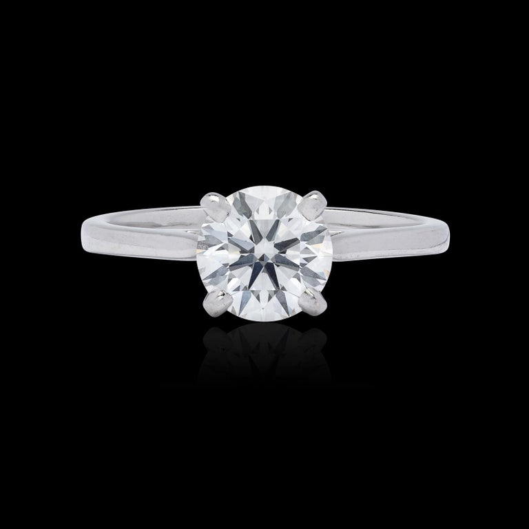 Round Cut Gorgeous .86 Carat GIA F/VVS1 Diamond Ring For Sale