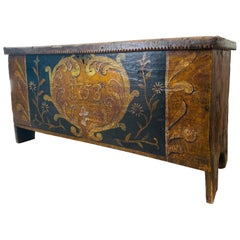 Gorgeous Antique Italian Wooden Case, 18th Century 'Year 1753'