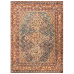 Gorgeous Antique Marbediah Israeli Carpet with Animal Motif.