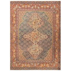 Gorgeous Antique Marbediah Israeli Carpet with Animal Motif.