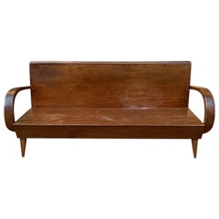 Gorgeous Art Deco French Wooden Sofa Bench