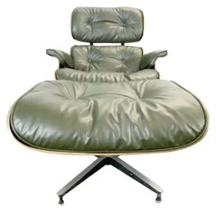 Gorgeous Avocado Eames Lounge Chair and Ottoman