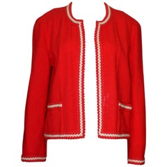 Gorgeous Chanel Maison Lesage Blazer Jacket with Crochet Paspel Ribbon Trimming