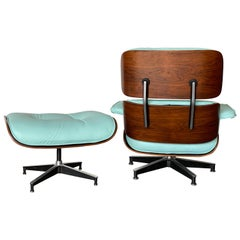 Gorgeous Custom Herman Miller Eames Lounge and Ottoman with New Leather