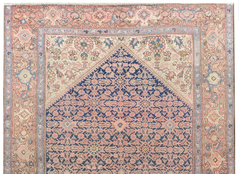 Vegetable Dyed Gorgeous Early 20th Century Herati Rug For Sale