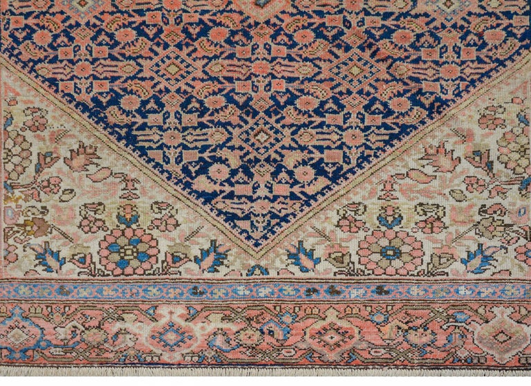 Gorgeous Early 20th Century Herati Rug In Good Condition For Sale In Chicago, IL