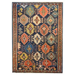 Gorgeous Early 20th Century Kuba Kilim Rug