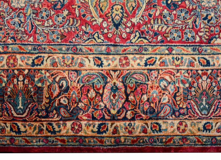 Vegetable Dyed Gorgeous Early 20th Century Sarouk Rug For Sale