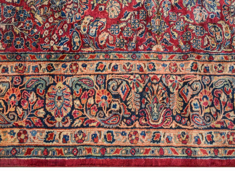 Wool Gorgeous Early 20th Century Sarouk Rug For Sale