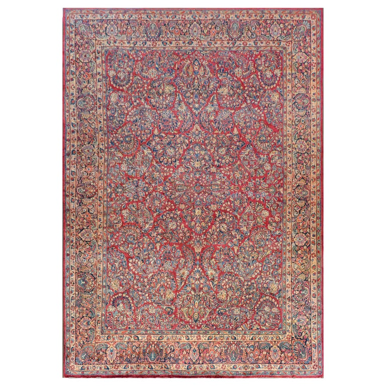 Gorgeous Early 20th Century Sarouk Rug For Sale