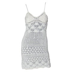Gorgeous Emilio Pucci Crochet Knit Mini Dress