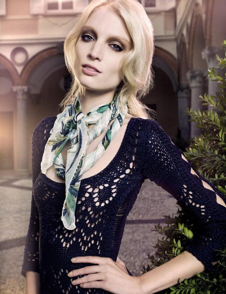 Gorgeous Emilio Pucci Crochet Knit Mini Dress with Metal Details For Sale 2