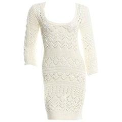 Gorgeous Emilio Pucci Crochet Knit Mini Dress with Metal Details