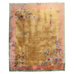 Gorgeous Floral Art Deco Chinese Room Size Souf Rug