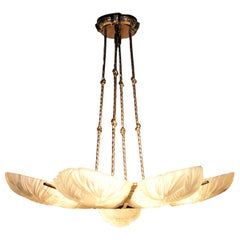 Gorgeous French Art Deco Chandelier by Sabino