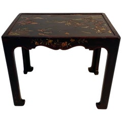 Gorgeous French Lacquer Chinoiserie End Table in Maison Jansen Style