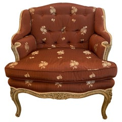 Gorgeous French Louis XV Club Chair Dressed Up in Rose Tarlow Fabric