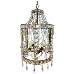 Gorgeous French Neoclassical Crystal Lantern