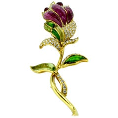 Gorgeous Gemstone Brooch