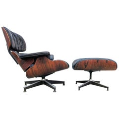 Gorgeous Herman Miller Eames Lounge and Ottoman, 1960s