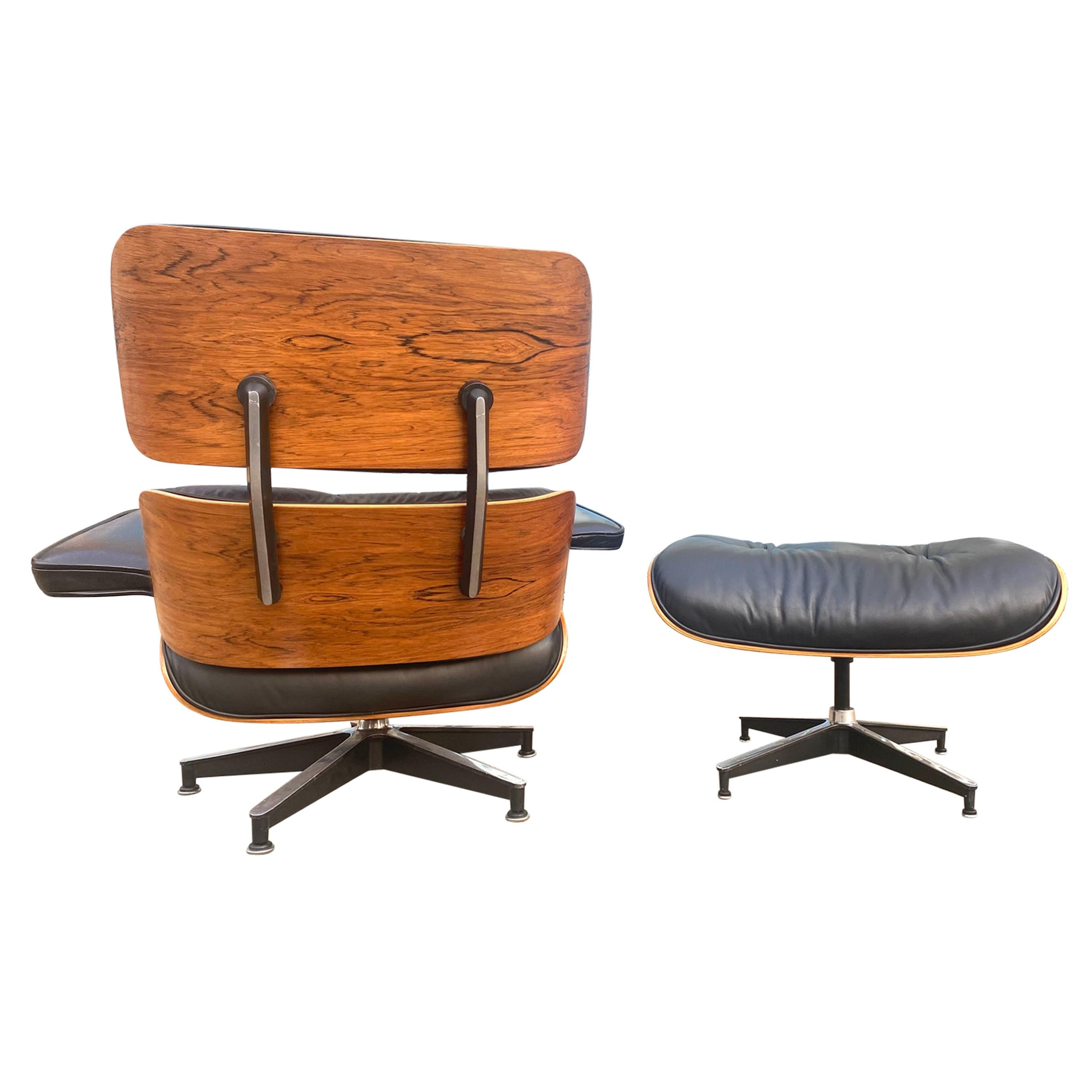 Gorgeous Herman Miller Eames Rosewood Lounge Chair and Ottoman