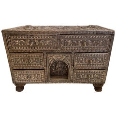 Gorgeous Indian Silvered Filigree Box with Many Drawers