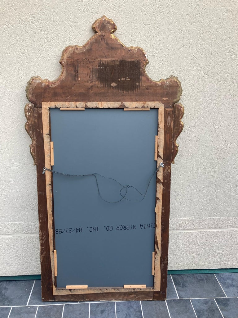 Gorgeous Large Gustavian Style Painted & Gilded Mirror For Sale 6