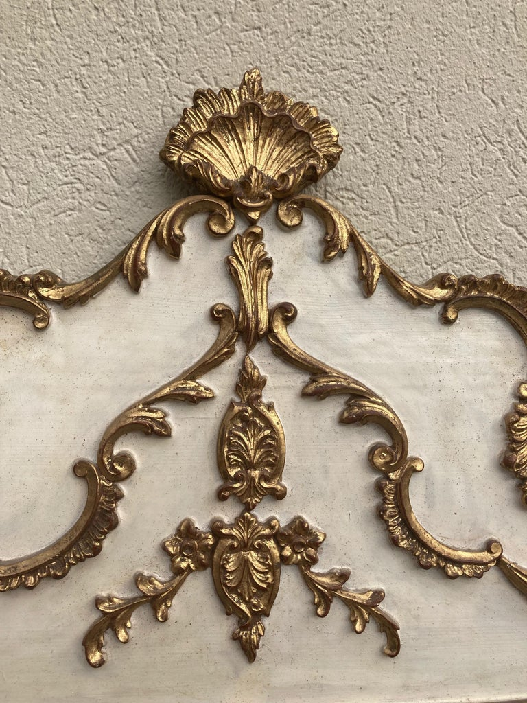 Gorgeous Large Gustavian Style Painted & Gilded Mirror For Sale 1