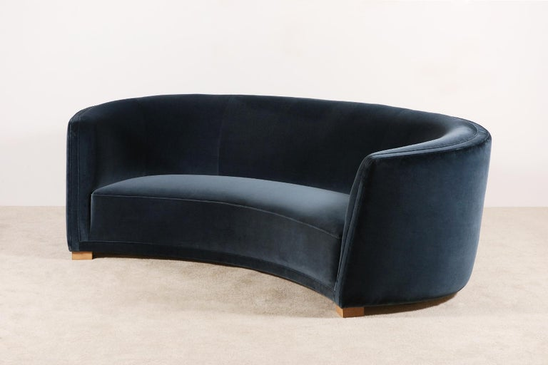 Scandinavian Modern Gorgeous Large Three-Seat Danish Curved Sofa from 1930s For Sale