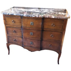 Gorgeous Mahogany and Marble Commode Chest of Drawers