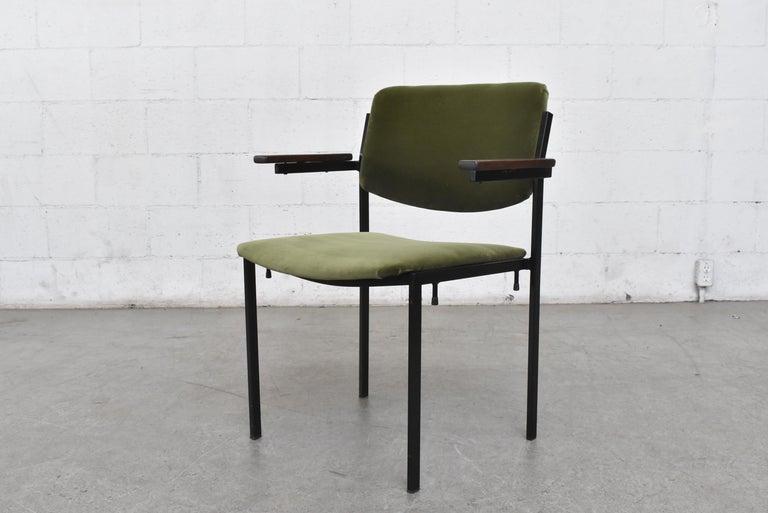 Mid-Century Modern Gorgeous Martin Visser Inspired Stacking Velvet Armchairs