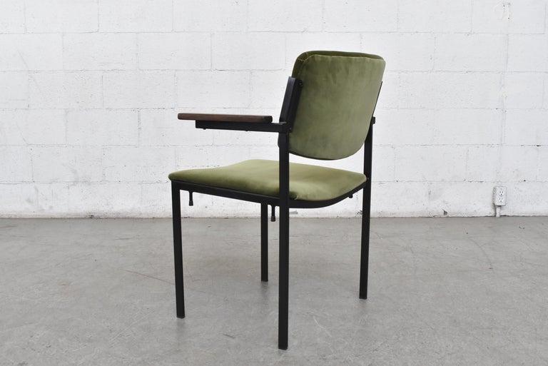 Enameled Gorgeous Martin Visser Inspired Stacking Velvet Armchairs