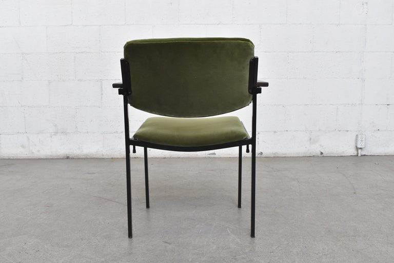 Gorgeous Martin Visser Inspired Stacking Velvet Armchairs In Good Condition In Los Angeles, CA