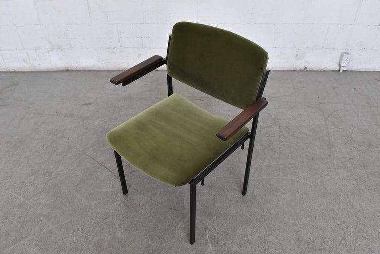 Mid-20th Century Gorgeous Martin Visser Inspired Stacking Velvet Armchairs