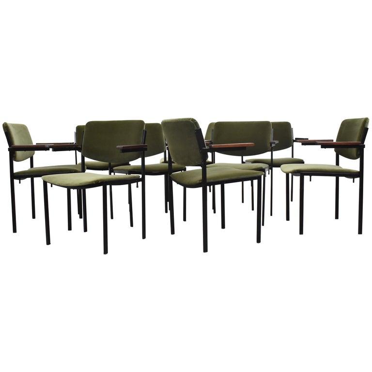 Gorgeous Martin Visser Inspired Stacking Velvet Armchairs