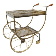 Gorgeous Midcentury Bar Cart or Tea Trolly by Svenskt Tenn, Sweden, 1950s