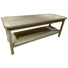 Gorgeous Mint Green Vintage French Long Planting Table