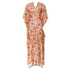 Gorgeous Missoni Multicolor Golden Metallic Lurex Kaftan Maxi Dress