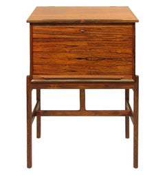 Gorgeous Model 67 Danish Rosewood Secrétaire Standing Desk by Arne Wahl Iversen