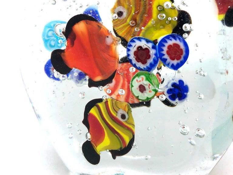 Gorgeous Murano Italian Art Glass Fish Aquarium Paperweight, Italy, 1970s For Sale 2