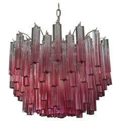 Gorgeous Murano Vintage Chandelier, 107 Quadriedri Amethyst Shade