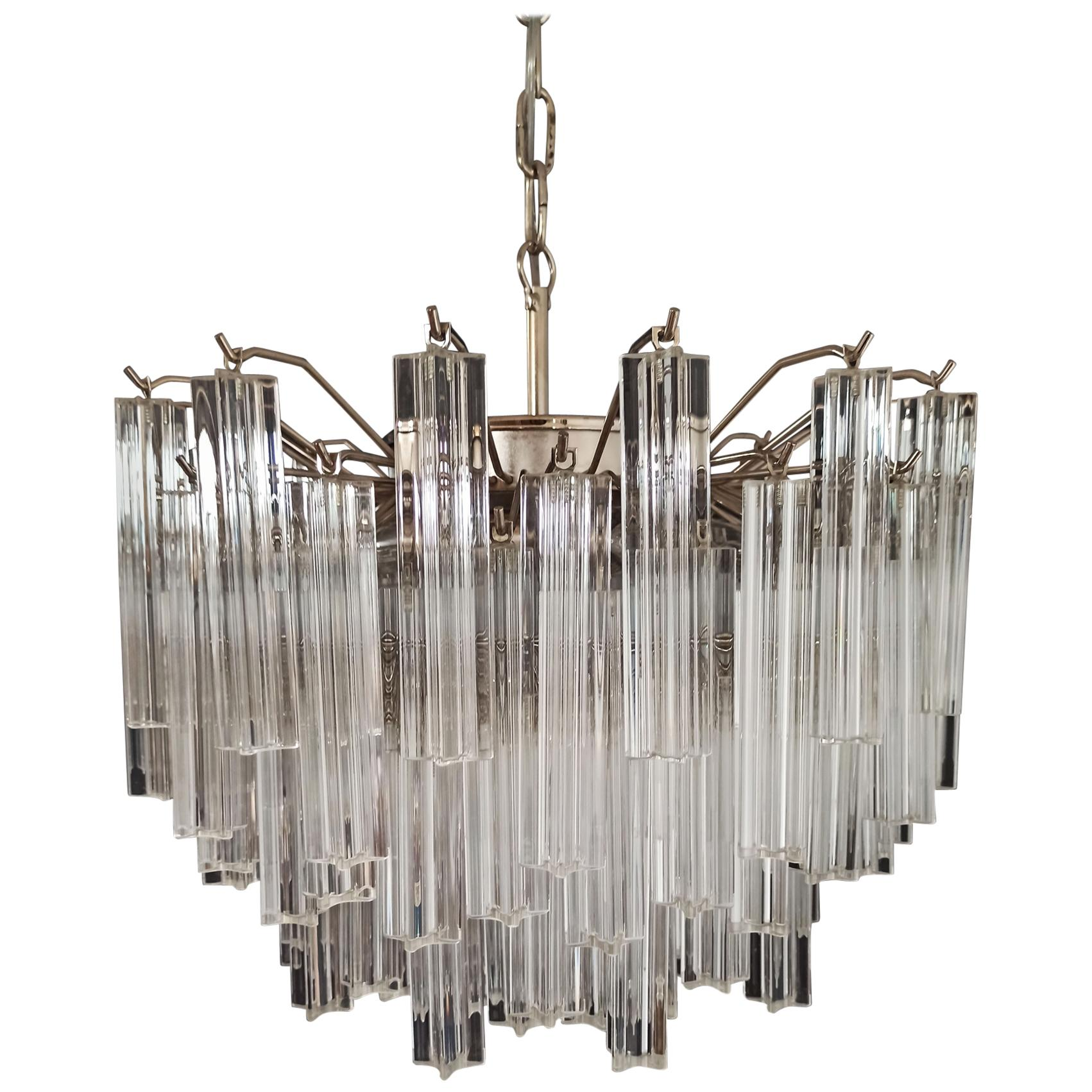 Gorgeous Murano Vintage Chandelier, 107 Quadriedri