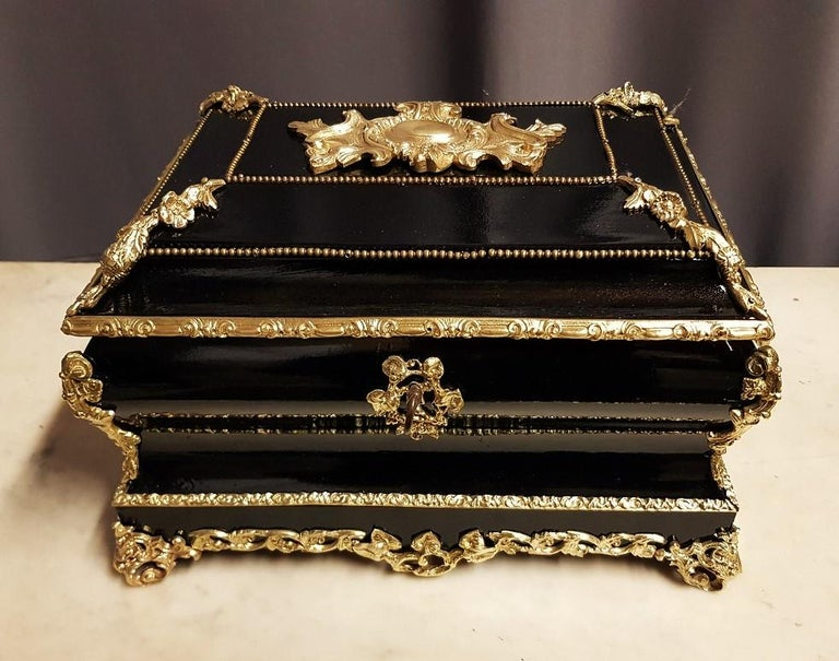 French Gorgeous Napoleon III Jewelry Box, France, 19th Century For Sale