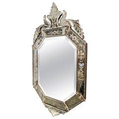 Gorgeous Ornate Topped Venetian Mirror